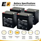 12V 5AH Battery for Razor E100 E125 E150 E175 Scooter 4 Pack