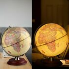 Globe World Map White Ocean Earth Rotating Home Office Table Decor Globes w LED