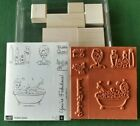 NEW Stampin Up BUBBLE QUEEN 2005 Set Of 6 Retired Unmounted Quick Ship