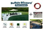 Buffalo Blizzard Swimming Pool Supreme Winter Cover w Leaf Net Choose Size