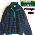 LLBean Jacket Outer Whole Pattern Mens CHIMAYO Native Vintage 80s Outdoor