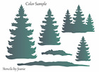 Joanie Stencil Pine Trees Template Reusable 7 mil Rustic Cabin Decor DIY Sign