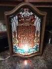 Vintage Heilmans Old Style Lighted Beer Sign Faux Stained Glass Cheers Man Cave