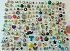 BIG Lot 200 Vintage Jewelry TINY SINGLE Earrings All Kinds RS Faux Pearl