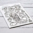 Witch Girl Metal Cutting Dies and Clear Stamps Scrapbooking Album Paper Craft