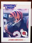 1988 JAMES BROOKS BENGALS  SLU STARTING LINEUP ROOKIE KENNER CARD NM-MT