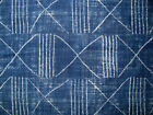 Ralph Lauren Azores Navy Blue White Ethnic Native Pattern Fabric Remnant Sample
