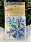 Vtg 1950s REYNOLDS ALUMINUM Package Ties Gift Tags MCM Xmas Tree Ornaments NOS