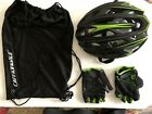 Cannondale Cypher Helmet Black Green 3HE08 Small Medium with Gel Gloves XL
