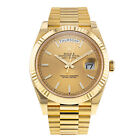 Rolex Day-Date 228238 18K Yellow Gold Champagne Dial Automatic Mens Watch