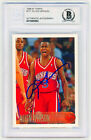 1996 Topps #171 Allen Iverson Rookie Card On-Card AUTO signed RC BGS