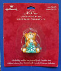 Hallmark NECKLACE Christmas Vintage BEAR PORCELAIN Ornament Holiday NEW