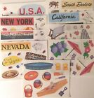 Creative Memories VACATION TRAVEL STATES Stickers ALL Discontinued