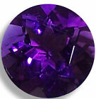 Natural Amethyst Purple Round Faceted Loose Gemstones Fine Cut AA+ Quality