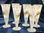 set of six Libbey 1953 cavalcade pilsner, parfait glasses 8 1/4 in great shape