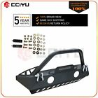 For Jeep Wrangler JK 07 18 front Bumper Black Complete protector guard