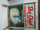 VINTAGE SKY CHIEF GASOLINE TEXACO DRIVING AREA #1 STAND UP ADVERTISING SIGN