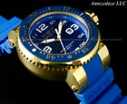 Invicta Mens 52mm Pro Diver OCEAN VOYAGER 18K Gold Plated SS Blue Dial Watch