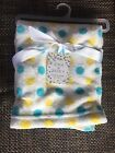 Zak  Zoey 30x 30 Soft Baby Blanket on Hanger By BLUE AND YELLOW POLKA DOTS