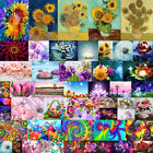 Full Drill Flower DIY 5D Diamond Painting Cross Stitch Embroidery Xmas Gifts US