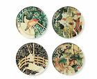 METROPOLITAN MUSEUM OF ART MEDIEVAL TAPESTRY CREATURES UNICORN GLASS COASTERS