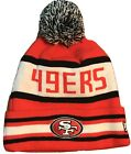 SAN FRANCISCO 49ERS BEANIE NEW ERA POM KNIT JAKE 3 NFL RED ONE SIZE