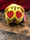 TY Beanie Boos - Teeny Tys Stackable Plush - Emoji Movie- CAT HEART EYE (4 inch)