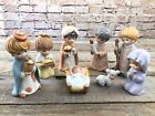 Vintage Homco Christmas Child Nativity Figurines 5602 Mary Baby Jesus Wise Man