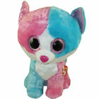 TY Beanie Boos - FIONA the Blue & Pink Cat (Glitter Eyes) (6.5 inch) MWMTs