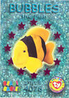 TY Beanie Babies BBOC Card - Series 3 Wild (MAGENTA) - BUBBLES the Fish - NM/M