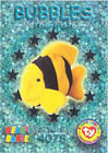TY Beanie Babies BBOC Card - Series 3 Wild (SILVER) - BUBBLES the Fish - NM/Mint