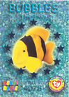 TY Beanie Babies BBOC Card - Series 3 Wild (TEAL) - BUBBLES the Fish - NM/Mint