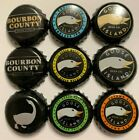 Goose Island & Bourbon County Craft Beer Bottle Caps - Lot of 9 - Good Condition