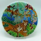 Rare Signed Peggy Karr Fused Glass 11 1 2 Jungle Plate Perfect