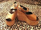 Magnificent Platform Vintage 1970 Sole Liege T.36 New/Platform Clamp Shoes