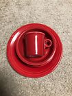 Homer Laughlin Fiesta Scarlet 4 Piece Place Setting Pre-Owned