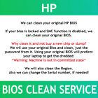 HP G5 BIOS Password reset unlock clean service  SMC alternative Fast
