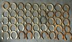 45 Used Rustic  Refurbished Metal Horse Shoes w Nails Pulled  Some Cleaned