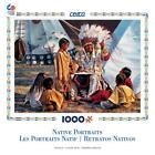 NEW CEACO 3353 12 David Graham Native Portraits Buffalo Tales 1000 Piece puzzle