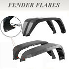 4 PCS TEXTURED STEEL FENDER FLARES W LED LIGHTS FIT 2007 2018 JEEP WRANGLER