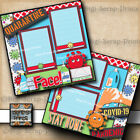 QUARANTINE 2 premade scrapbook pages PAPER digiscrap layout STAY HOME A0314