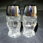 Salt And Pepper Shakers Glass Set of 2 Made Popular by Dennys Restaurant