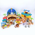 Fisher Price Little People Bethlehem Nativity Manger Scene Noahs Ark w Animals