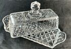 VINTAGE CUT GLASS OR CRYSTAL BUTTER DISH