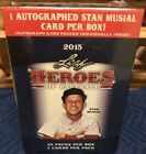 2015 Leaf Heroes Of Baseball w 1 Stan Musial HOF Auto in Factory Sealed box!!