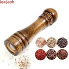 Salt and Pepper Mills Solid Wood Pepper Mill with Strong Adjustable Ceramic Gri