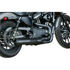 SS Black SuperStreet 2 Into 1 50 State Exhaust System Harley 07 13 XL Sportster
