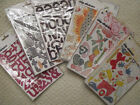 Lot of 6 Basic Grey Chipboard Alphabets And Chip Stickers NEW