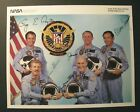SPACE SHUTTLE DISCOVERY 51 C SIGNED COLOR NASA PHOTOGRAPH  CHALLENGER