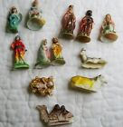 12 PC Vtg Made in Hong Kong Plastic Christmas Nativity Set Baby Jesus Angel